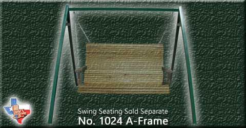 Item 1024-A-Frame, Outdoor Wood Furniture from Sawdust and Splinters. Made in Gatesville, Texas USA!