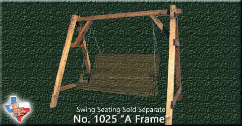 Item 1025-A-Frame, Outdoor Wood Furniture from Sawdust and Splinters. Made in Gatesville, Texas USA!